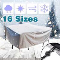 20 tamanho ao ar livre impermeável à prova de poeira cobre móveis sofá cadeira mesa capa jardim pátio protetor chuva neve proteger cobre