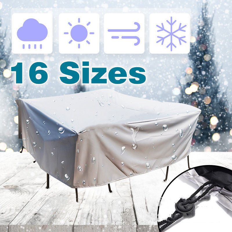 20Size Outdoor Waterproof Dust Proof Covers Furniture Sofa Chair Table Cover Garden Patio Protector Rain Snow Protect Covers