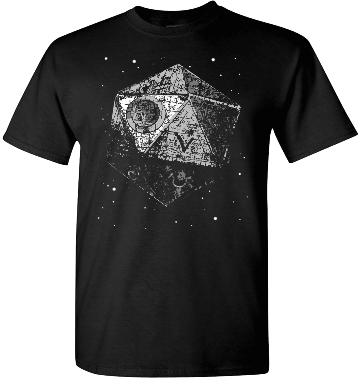 Dungeons and Dragons T Shirt Rare Black Metal Game Death Star Starwars Top Quality T-Shirts Men O Neck Top Tee Plus Size image