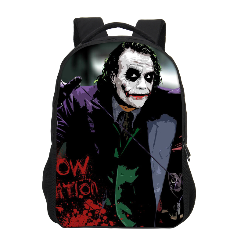 Veevanv Brand Designer Batman Clown Joker Printing Backpacks For Boys Girls Cool Bookbag Cartoon Daypacks Laptop Shoulder Bag