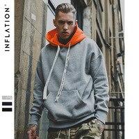 INFLATION 2018 Autumn Winter Brand Fashion Hoodies Sweatshirts Hip Hop Streetwear Sweatshirt Men Hoodie Sweatshirt Hooded 163W17