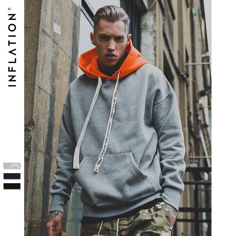 INFLATION 2018 Autumn Winter Brand Fashion Hoodies