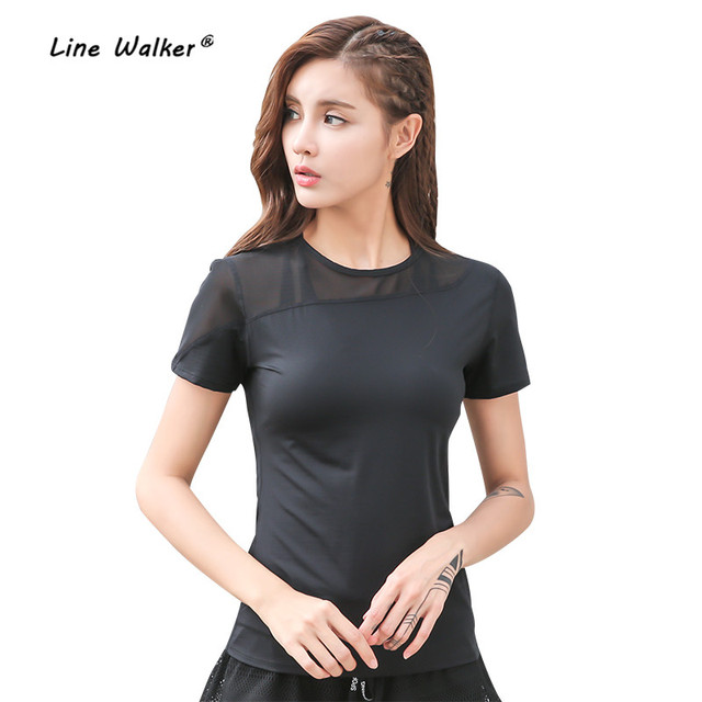 Line Walker 2018 Backside Mesh Yoga Top Short Sleeve Sport T