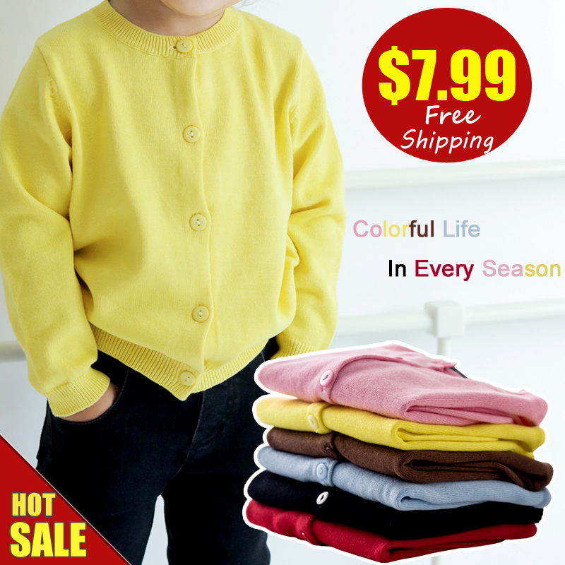 casido baby children clothing boys girls candy color knitted cardigan sweater kids spring summer autumn winter cotton outer wear