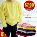 Casido детские детская одежда мальчики девочки конфеты цвет вязаный кардиган свитер дети весна лето осень зима хлопка верхней одежды