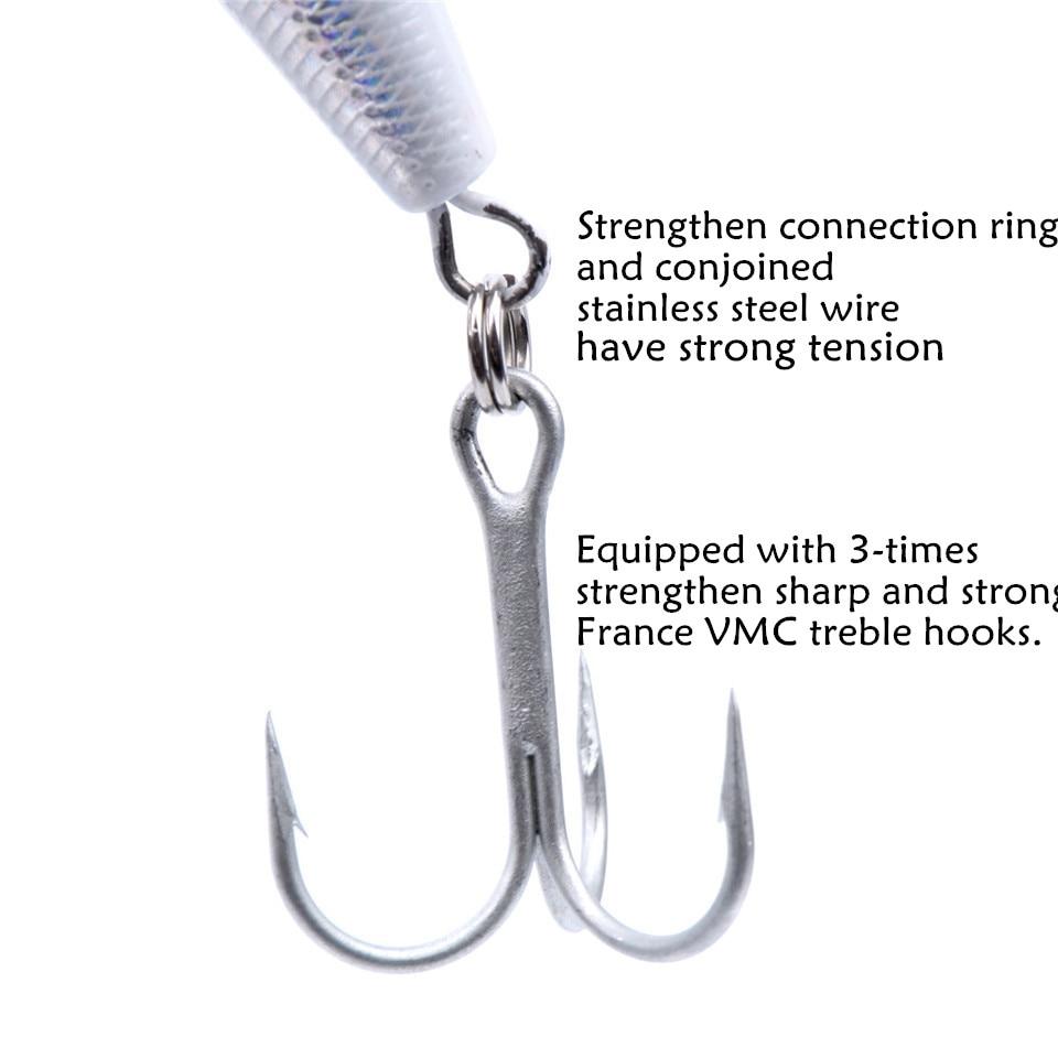 NOEBY NBL9069 Popper Lure 140mm 40g Artificial Bait With France VMC Hook Leurre Peche Hard Fishing Bait