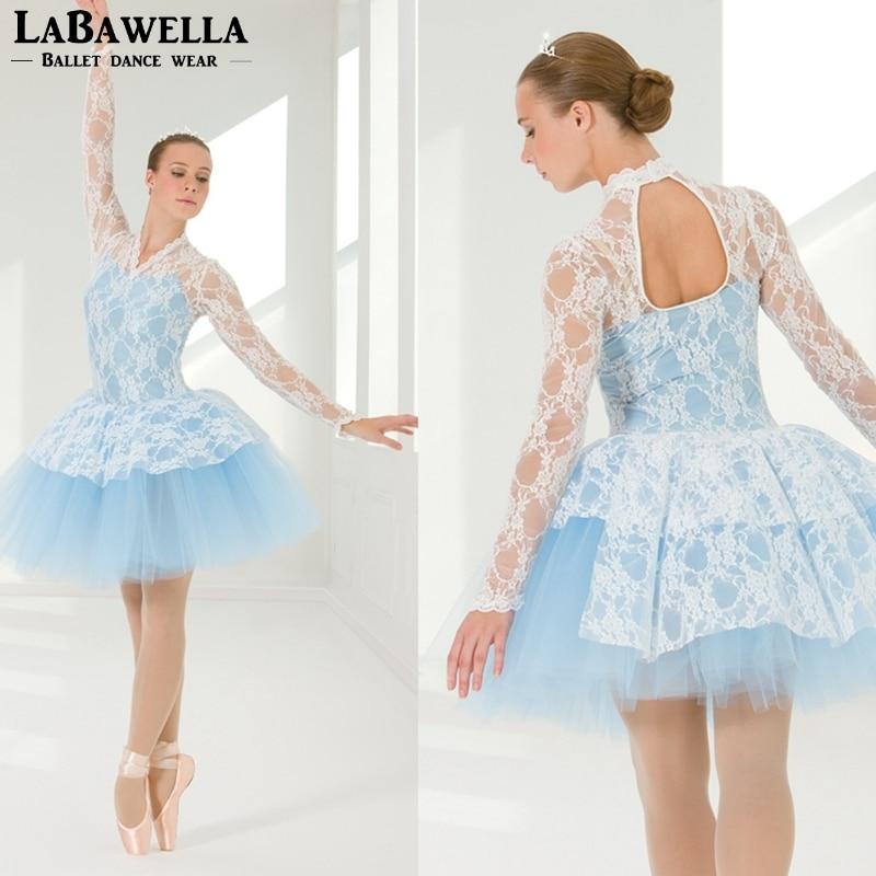 girls romantic blue ballerina tutu dress women fairy stage performance ballet costume dress dance costume BL0125
