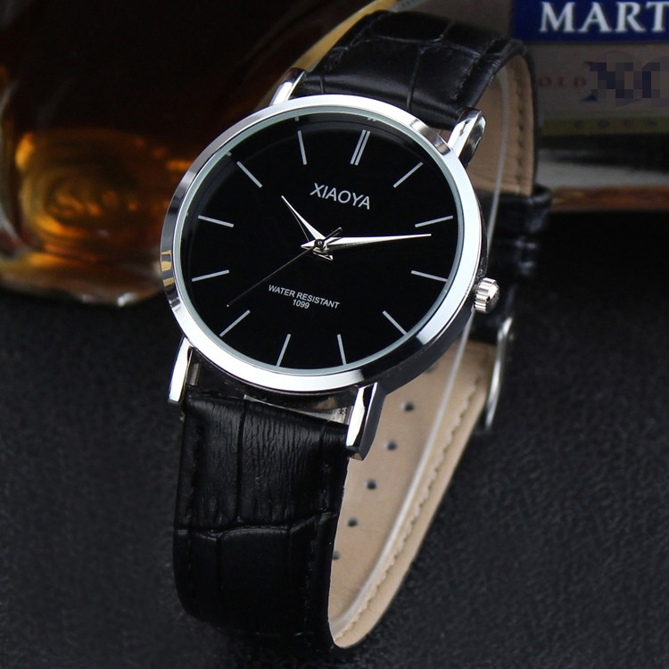 Mens Quartz Watch Top Brand Man Watches XIAOYA Stainless Steel Case With Leather Strap Male Clock On The Hand gifts reloj hombr