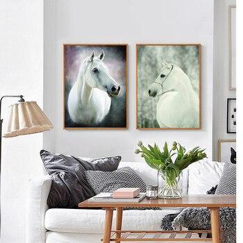 Cuadro artístico impreso sobre lienzo sin marco, cartel de caballo robusto suave con Animal, cuadro artístico para la decoración del hogar y la sala de estar