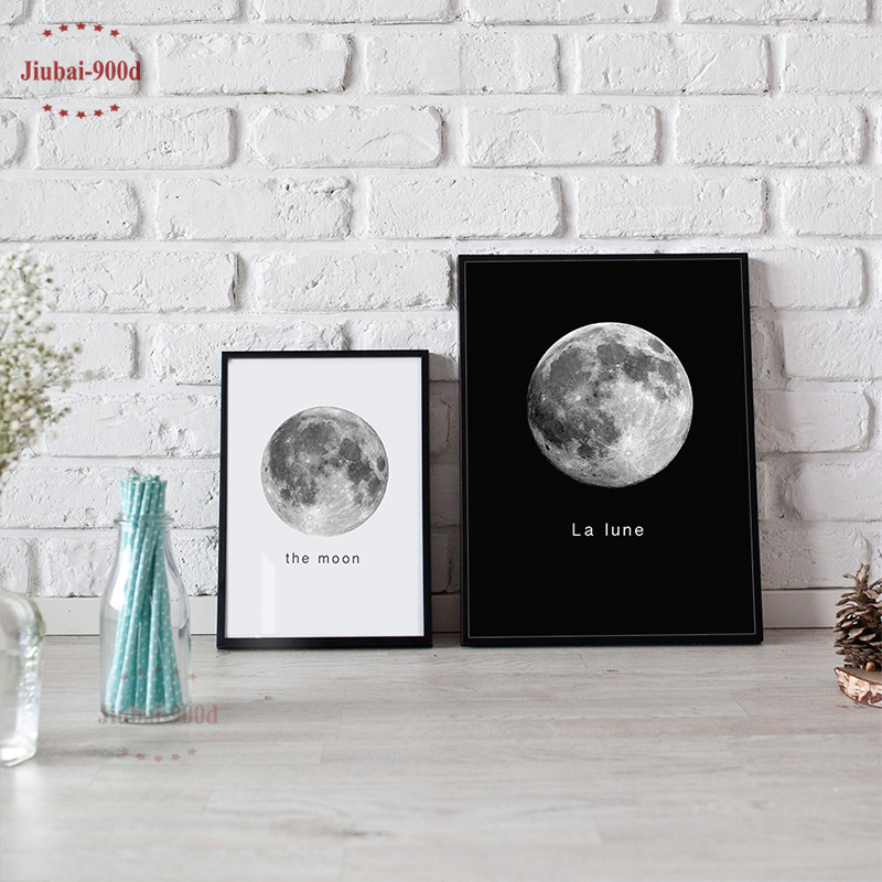 900d Wall Art Canvas Painting Wall Pictures For Living Room Nordic Decoration Moon Wall Decor