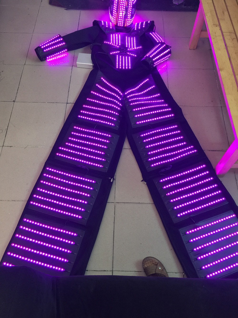LED Costume LED Clothing Light suits LED Robot suits david robot in Glow Party Supplies from Home Garden