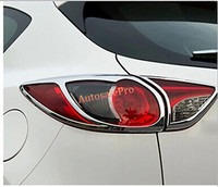 ABS Chrome Rear Tail Light Lamp Cover Trim 4pcs For Mazda CX 5 CX5 2012 2015