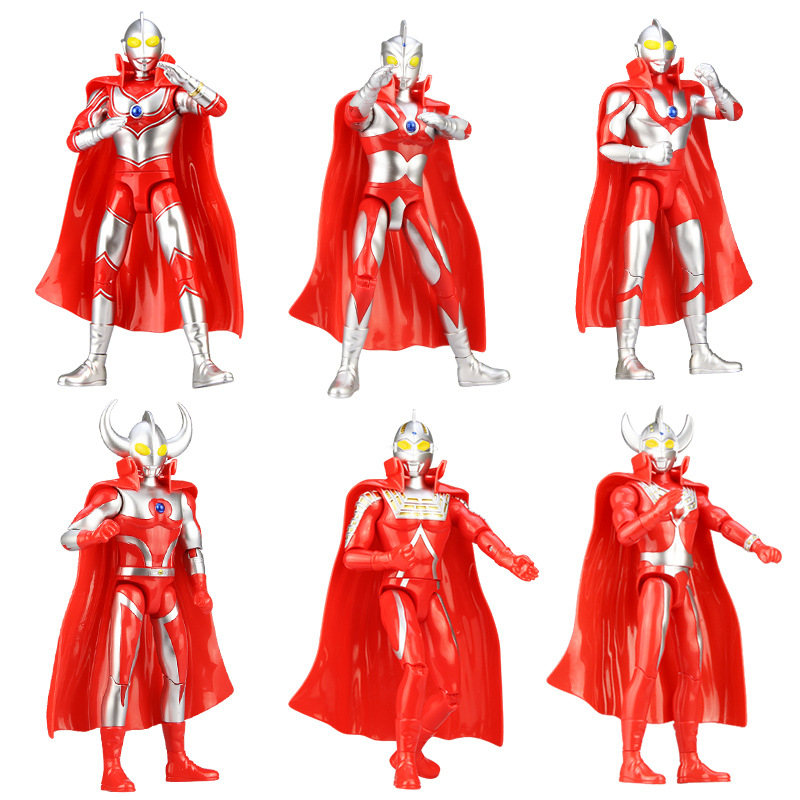 24cm Ultraman Taro Jack animation action figure monster kit with movable joints, color box a gift for children