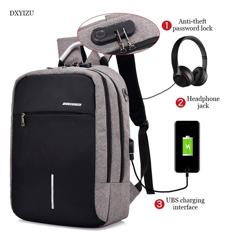 Usb Charging Canvas Backpack Women School Backpacks Schoolbag For Teenagers Man Student Book Bag Boys Satchel #2