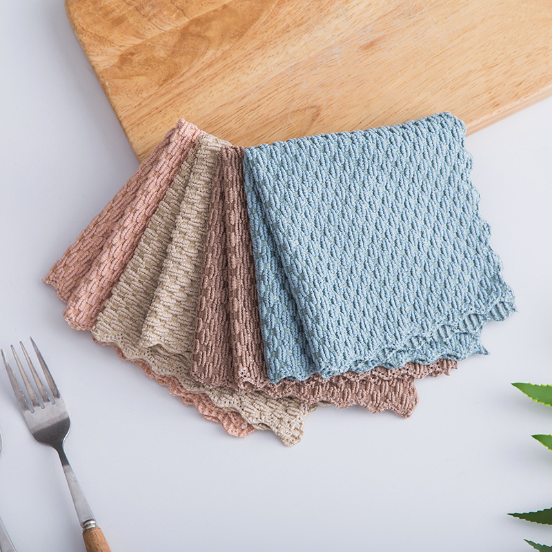 FOURETAW 1 Piece Home Kitchen Car Non greasy Rag Towel Super Absorbent Clean Cloth Sink Cleaning Towels Household Cleaning Tools-in Cleaning Cloths from Home & Garden