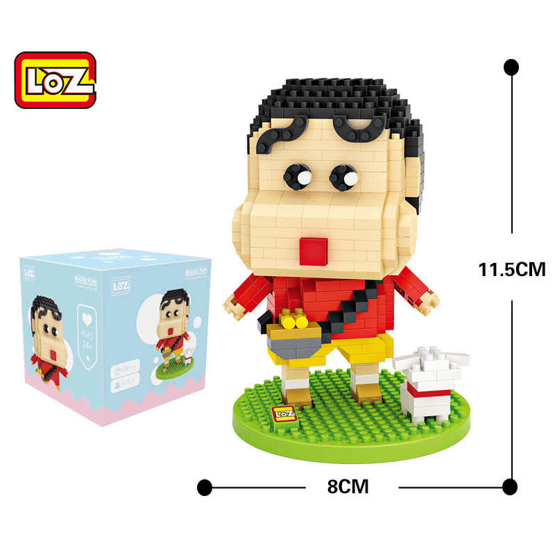 LOZ bloques de construcción de unicornio arcoíris, bloques de construcción  de bloques de crayón Shin chan LOZ, 9203 9204|Bloques| - AliExpress