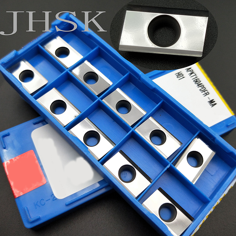 10pcs APKT1604PDFR-MA H01 CNC Milling Lathe Tools Machine Tool Accessories Carbide Inserts Used For Aluminum