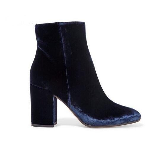 Velvet-Round-Toe-Woman-Ankle-Booties-Autumn-Winter-Chunky-Heels-Woman-Fashion-Blue-Green-Side-Zipper (5)
