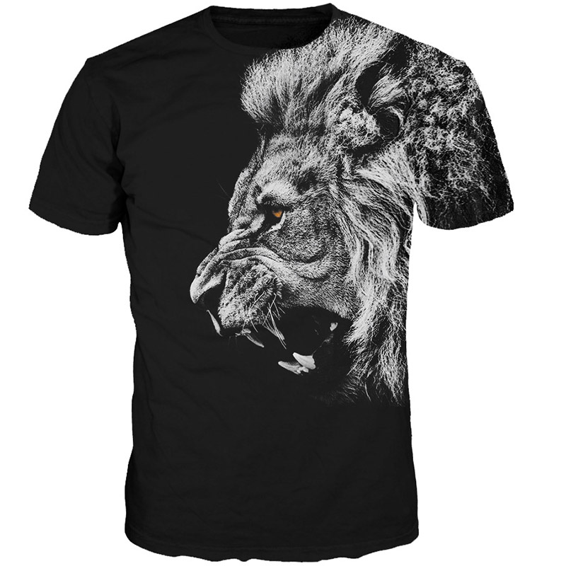 New Fashion Men/Women T-shirt 3d Lion Print Stylish Designed Summer T Shirt Brand Tops Tees Plus Size Real Pic
