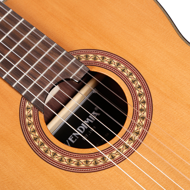 """Professional Handmade 39"""" Full Solid Acoustic Classical guitar With Solid Cedar Top/ Solid Rosewood Body +Original 30MM ,Gloss 1"""