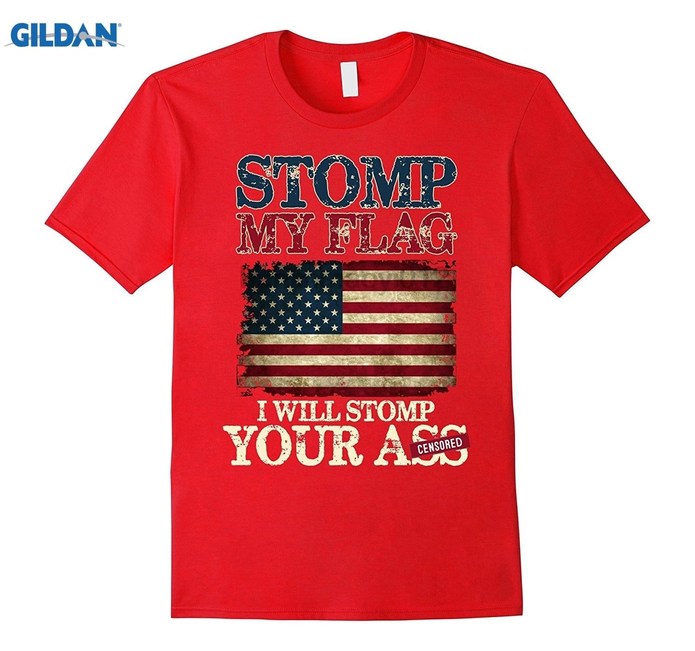 GILDAN Stomp my flag I will stomp your a T-shirt glasses Womens T-shirt