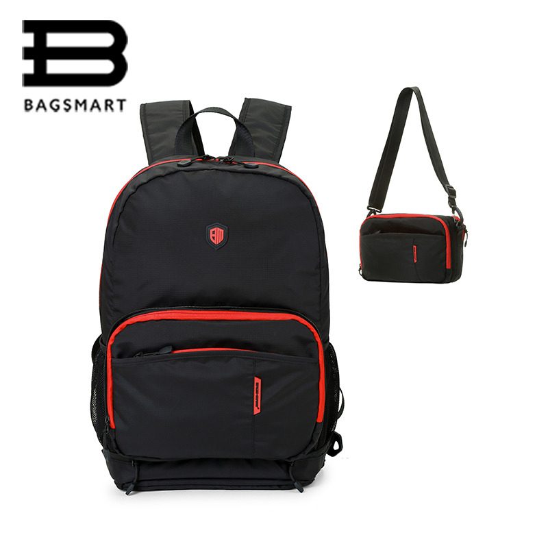 BAGSMART Multifuctional Foldable Backpack Waterproof Women Men Travel Bags Casual Travel Backpack Shoulder Bag School Bag new gravity falls backpack casual backpacks teenagers school bag men women s student school bags travel shoulder bag laptop bags