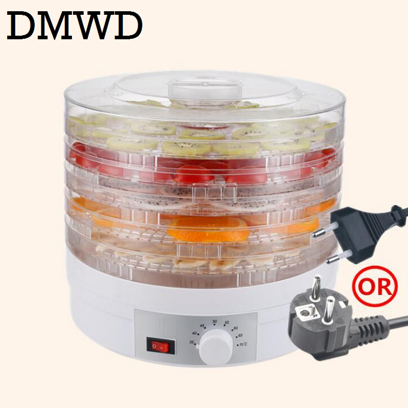 CUKYI Household Food Dehydrator Dried Fruit Vegetable Herb Meat Drying Machine snack dryer 5 layers trays 110V 220V EU US plug 5 trays 245w food fruit dehydrator drying fruit machine home food dryer dehydrator with timing function and temperature control