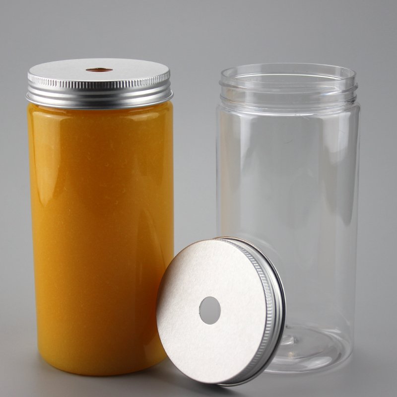 100 piezas de plástico de 500 ml botella de bebida de plástico del tubo del tarro del animal doméstico con tapas de aluminio botella de bebidas de té botella de boca ancha-in Botellas y frascos de almacenamiento from Hogar y Mascotas    1