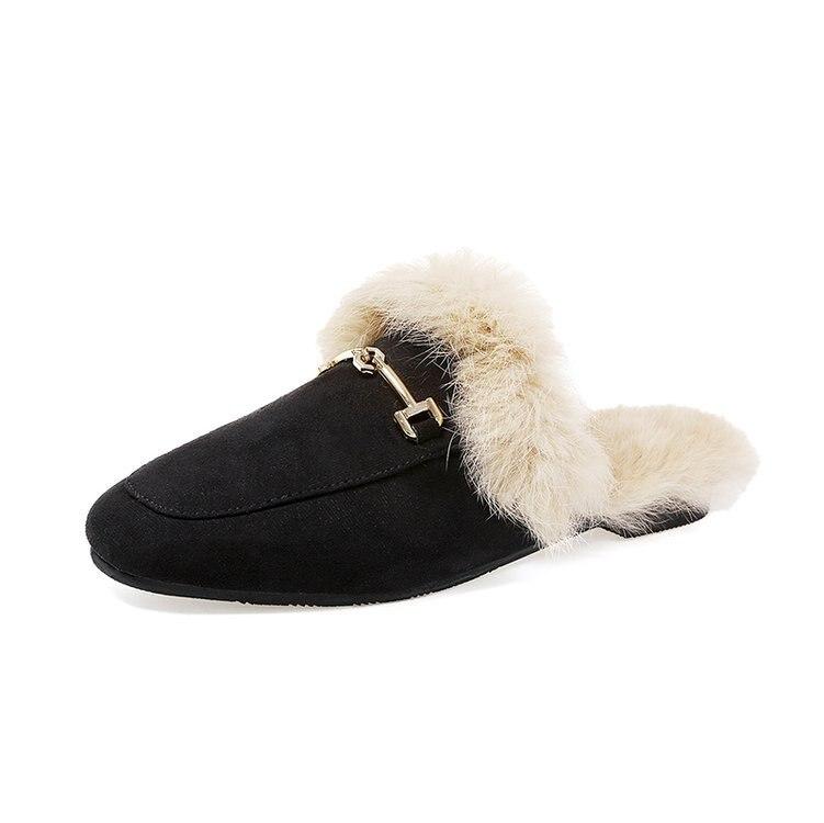 2018 Women's Slide On Slip On Mule Loafer Flats Shoes Slides Slippers New Fashion Woman Mules Flip Flops
