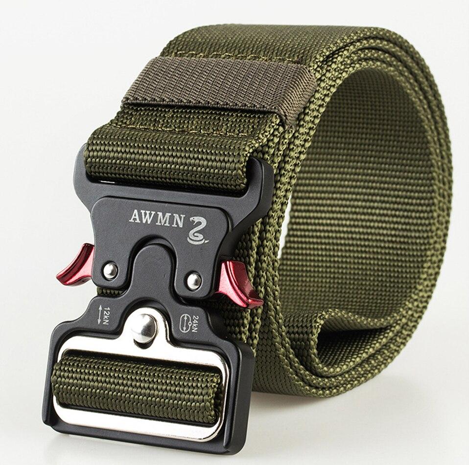 4,8 см ширина мужской ремень нейлоновый тактический армейский ремень для брюк с металлической пряжкой холщовые ремни для тренировок на открытом воздухе Черный Военный поясной ремень