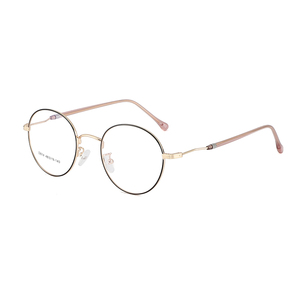 Image 4 - BCLEAR 2019 New Man Woman Retro Large Round Glasses Metal Alloy Eyeglass Frame Black Silver Gold Spectacles Eyeglasses Optical