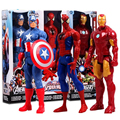 "12""30CM Marv Super Hero Avengers Action Figure Toy Captain America,Iron Man,Wolverine,Spider-Man,Raytheon Model Doll Kids Gift"