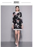 WLD09336 AAA Качество Новый Замечательный Для женщин 2018 осеннее платье Элитный бренд в Европе Мода Дизайн Большие размеры платье