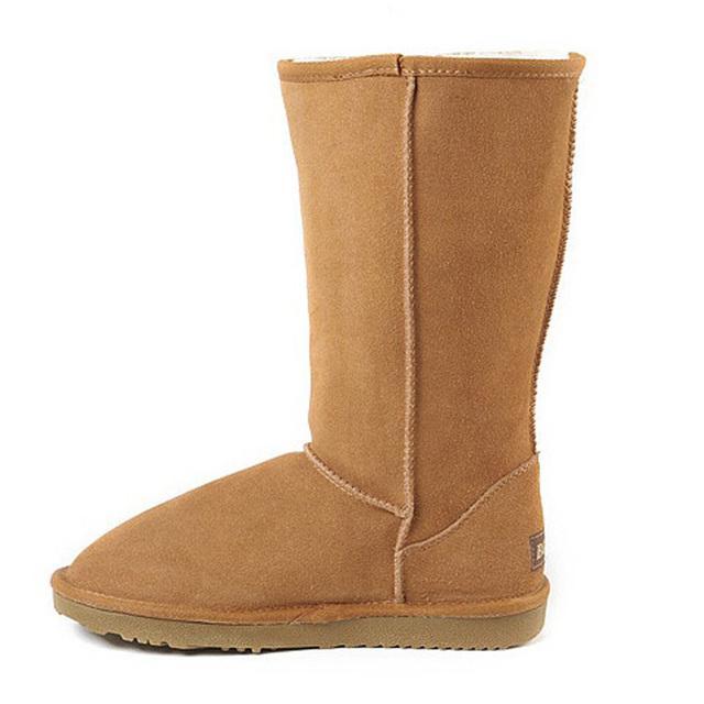 Mujeres Botas Clásicas Australia Botas de Nieve de Cuero Genuino Original de la Marca de Moda de Alta Calidad Zapatos de Mujer Botas de Invierno Cálido