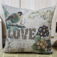 Linkwell frete grátis pássaro do amor dia dos namorados melhor presente para namorado namorada almofada
