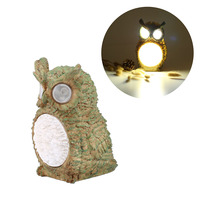 New Cute Solar Owl Light Waterproof Outdoor Garden Yard Decorative Bird Lamp Party Light Home Decor