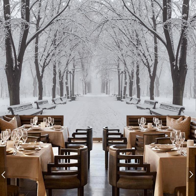 Grandes murales fotográficos modernos, paisajes de invierno, papel ...