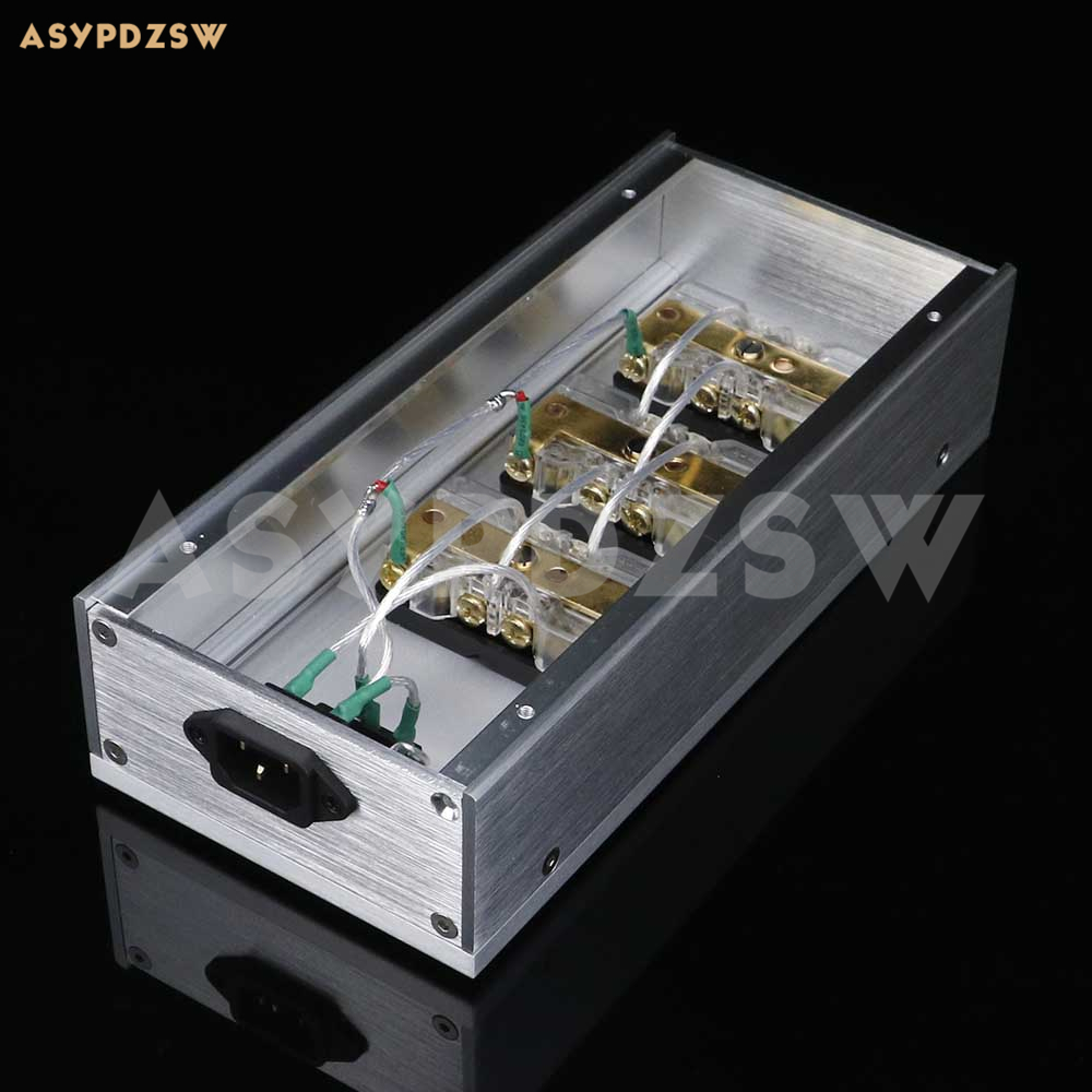 HIFI Aluminum gold-plated phosphor copper US standard power Distributor 6 seats