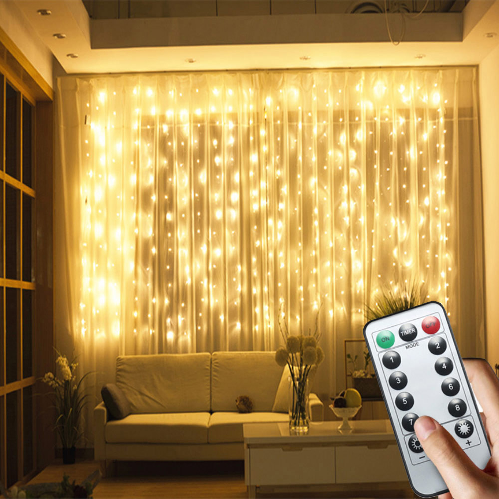 Garland Battery Powered Fairy Light Curtain Led Decorative