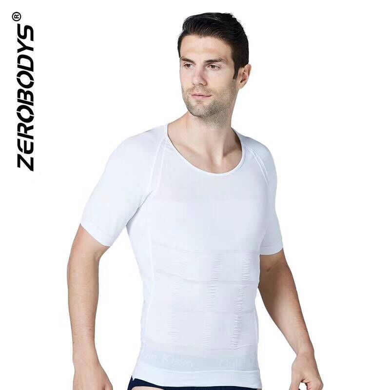 Men's Body Shape- Slimming Vest for Tummy Waist Body <font><b>Belly</b></font> lose Weight Short <font><b>Sleeve</b></font> vest <font><b>Shirt</b></font> Shaping image
