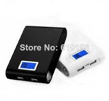 Preto Dual USB 5 V 2A Banco de Energia Móvel de Quatro Módulo de Caixa de 18650 Carregador de Bateria Para Telefone Kit DIY