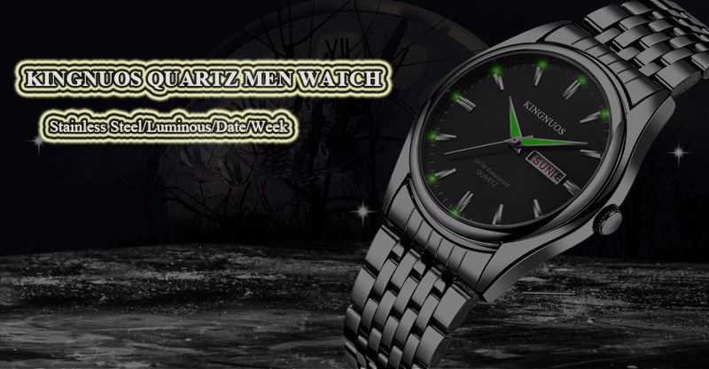 HTB1zXH6p7SWBuNjSszdq6zeSpXai Kingnuos Brand New Design Business Man Watch Steel Waterproof Luminous Hour Date Week Clock Male Hodinky Quartz Men's Watch