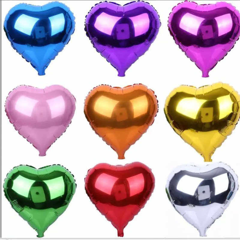 5pcs 10 inch Star Moon Heart Pink Foil Balloon Helium Birthday Decoration Kids Wedding Valentine's Day Party Decoration Air Ball