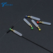 Toppory 15PCS/Bag Rotating Rotary Float Seat Silicone Copper Head Float Seat Fishing  Accessory Fishing Buoy Holder Connector