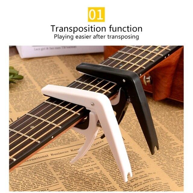 מקצועי אלומיניום סגסוגת + פלסטיק מנגינת גיטרה מקלט מהדק מפתח טריגר קאפו אקוסטית חשמלי מוסיקלי גיטרה קאפו