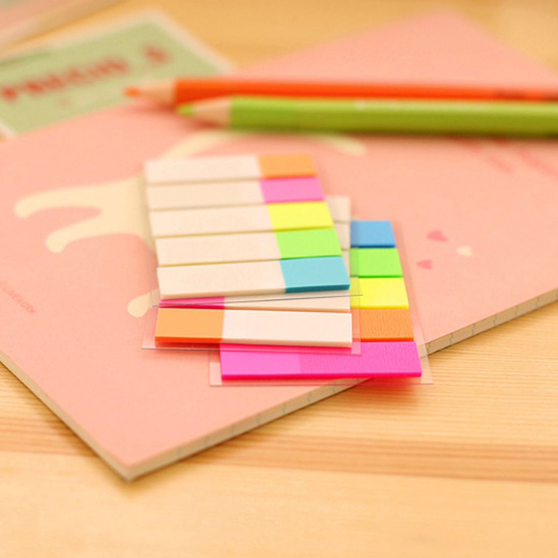 FangNymph Colorful Pet Memo Pad Cute Kawaii Sticky Paper Creative Fluorescent For Post It Note For Kids School Supplies