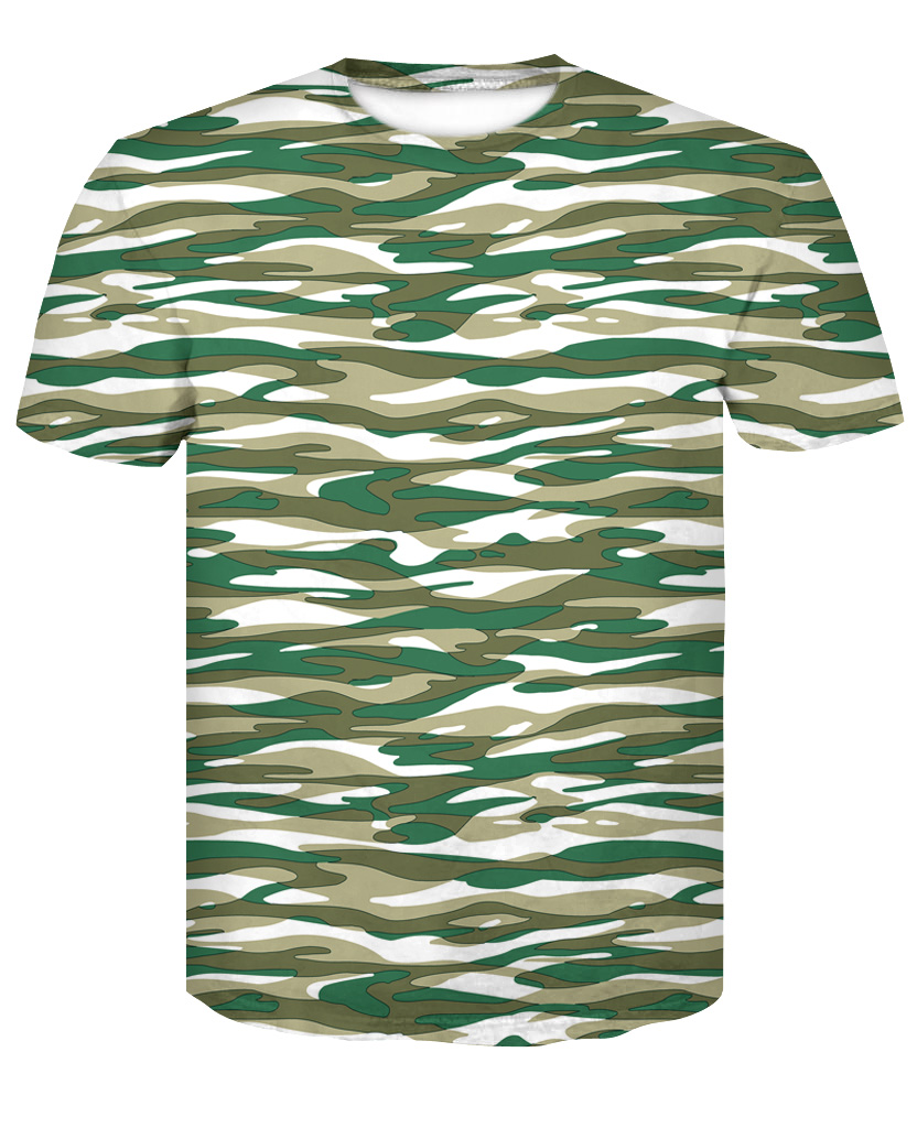 2018 new TUNESCHY brand Summer men's camouflage short sleeves 3D printing T-shirts  T-shirts clothes tight dress.