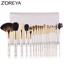 Zoreya Brand 20pcs Luxury Makeup Brushes Sets Wool Animal Hair Ostrich Cosmetic