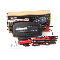 FOXSUR 12V 2A 4A 8A 7 Stage Smart Battery Charger GEL WET AGM Battery Type Car