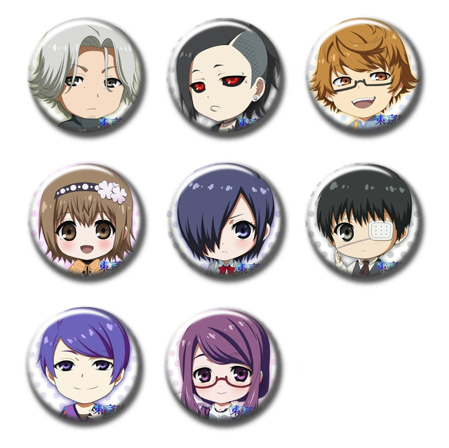 58mm custom made Round brooch pins Anime Badge Gift Tokyo Ghoul DJSSG f77116a62